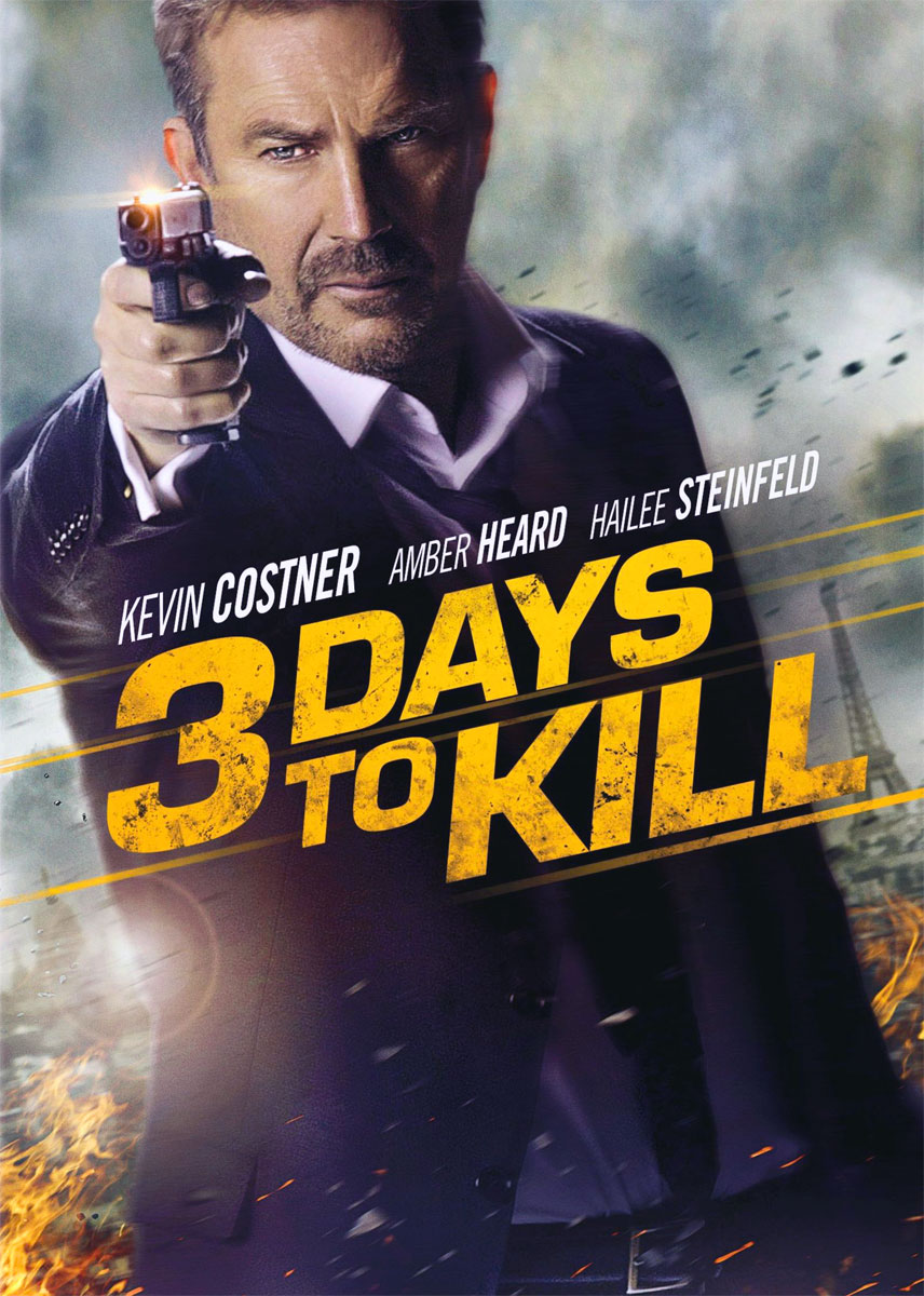 3 Days to Kill poster e locandina