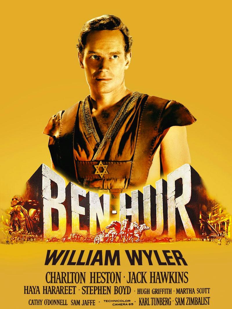 Ben-Hur, la locandina del film del 1959 con Charlton Heston