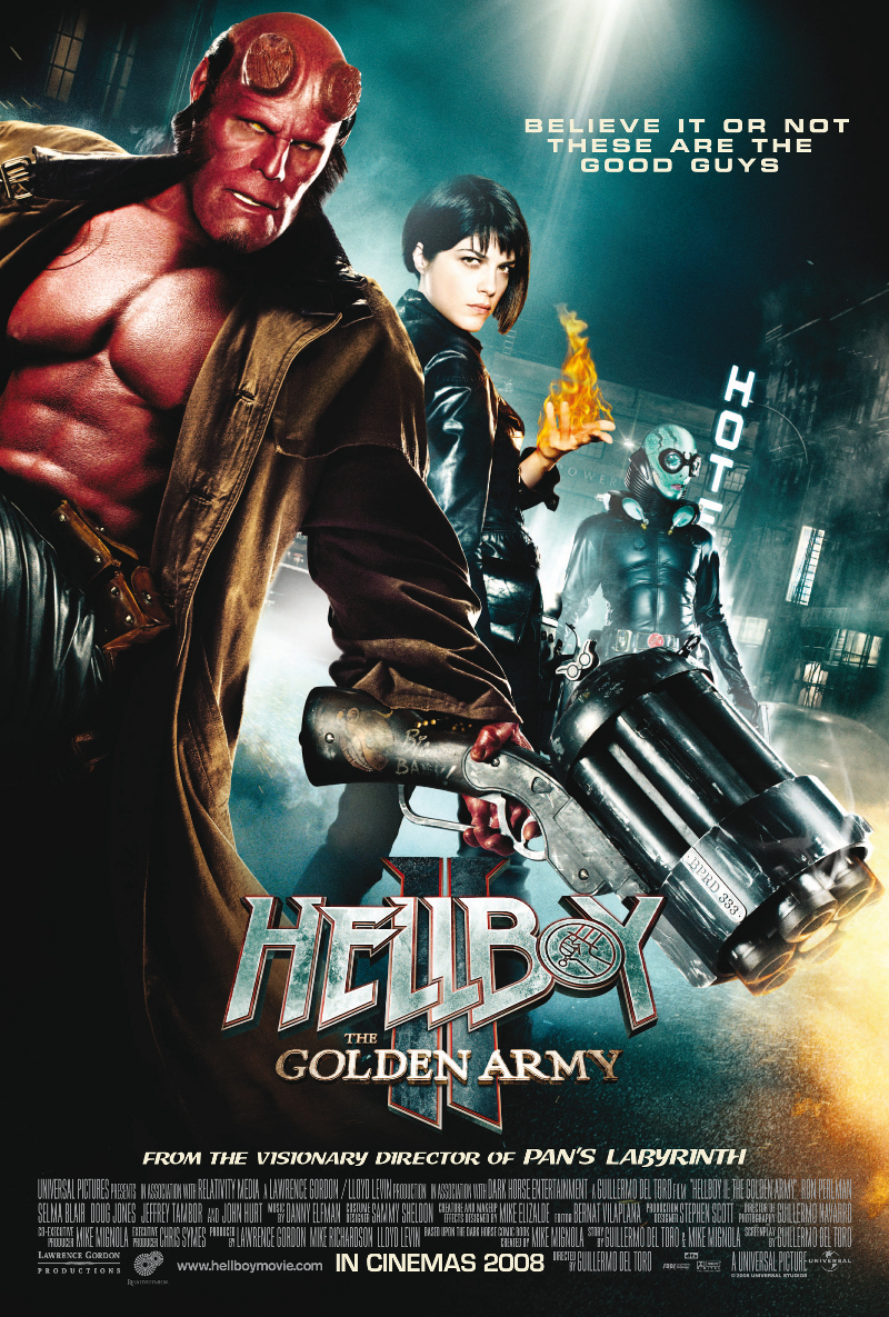 Hellboy: The Golden Army poster e locandina