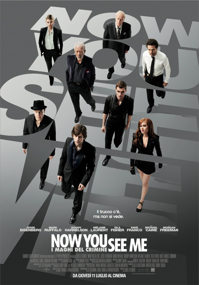 Now You See Me - I maghi del crimine poster e locandina