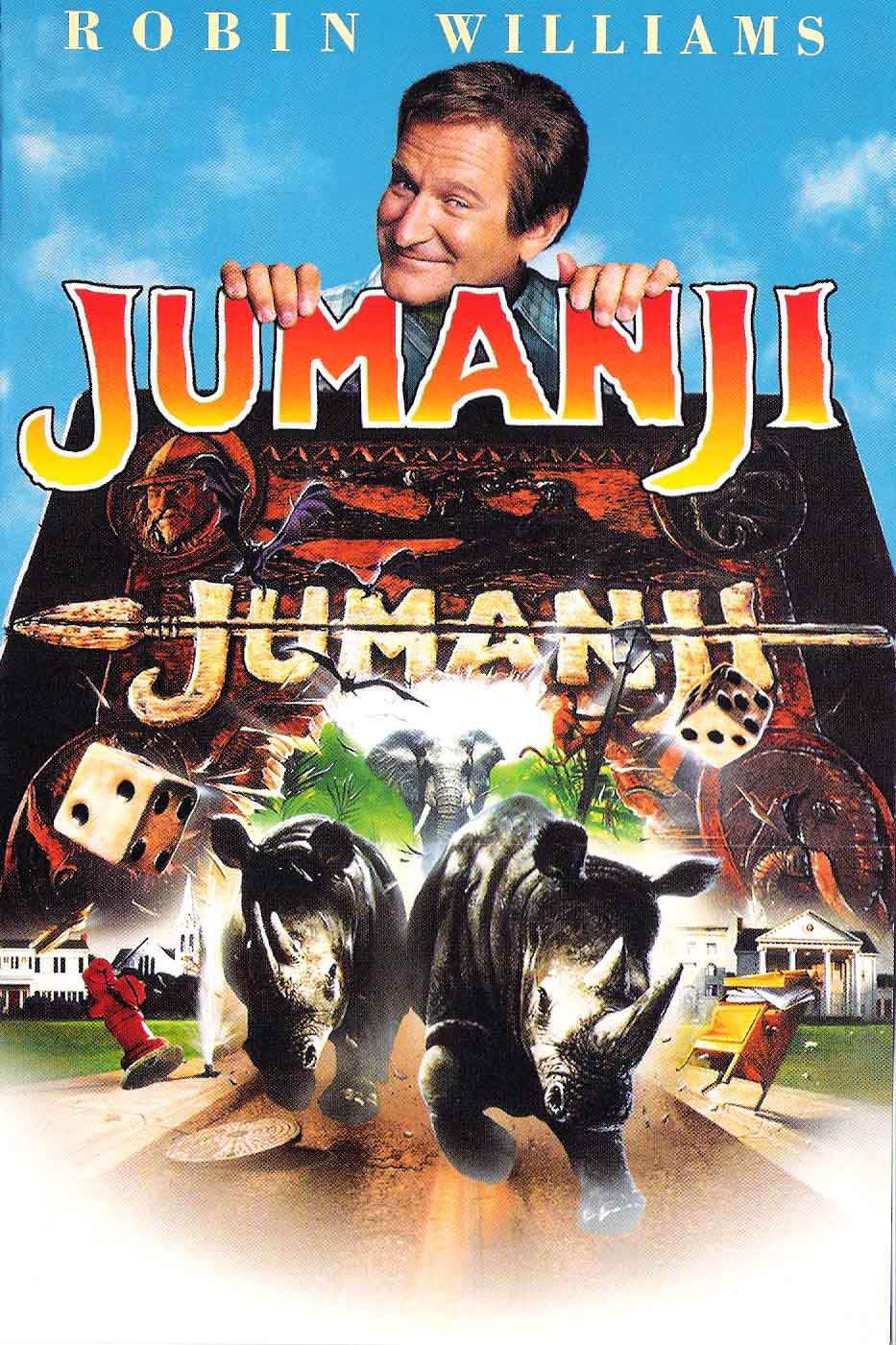 Jumanji, un gioco che sa trasportar chi questo mondo vuol lasciar. Tira i dadi per muovere la pedina, i numeri doppi tirano due volte, e il primo che arriva alla fine vince.