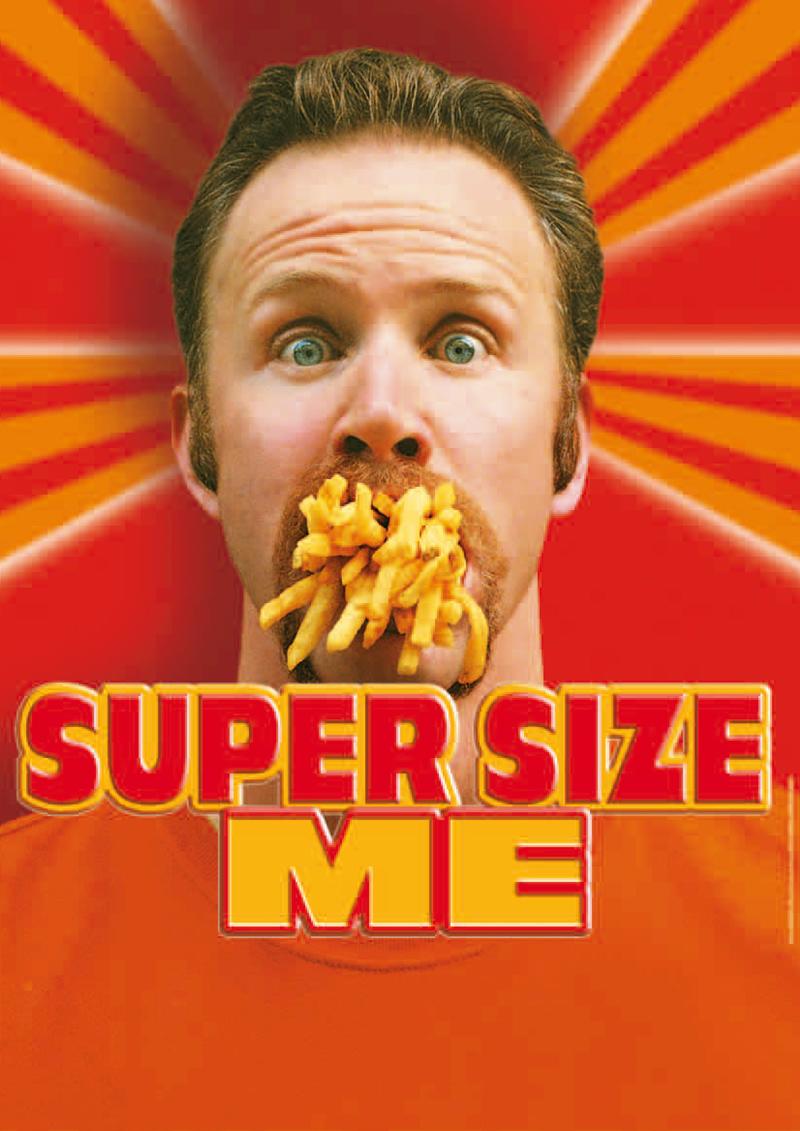 super size me film Super size me (español) by: kalimochocancun [6 videos »] 61,016 morgan spurlock se somete a una prueba como conejillo de indias, comer durante 30 dias solo en.
