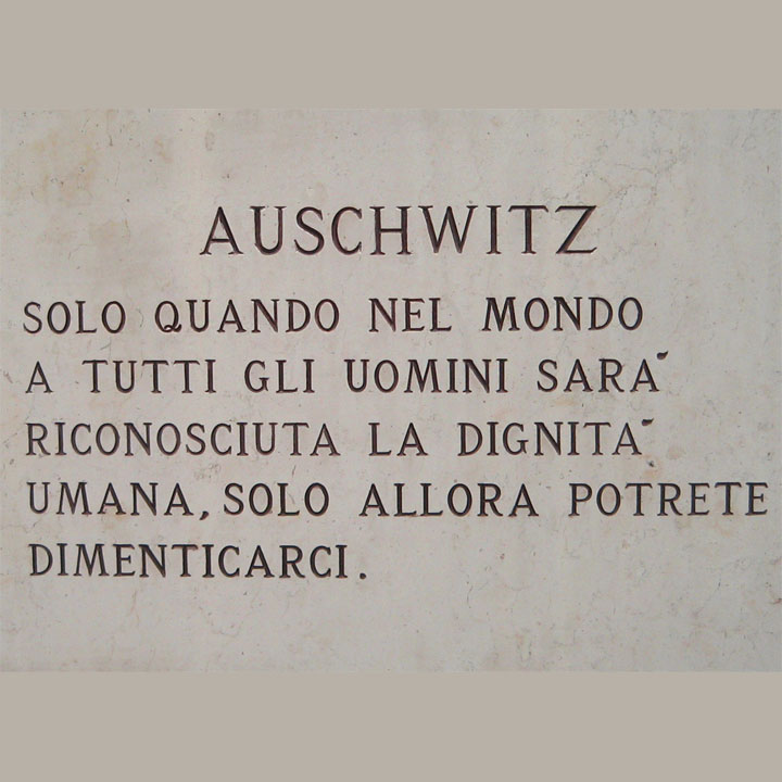 Auschwitz - Lapide
