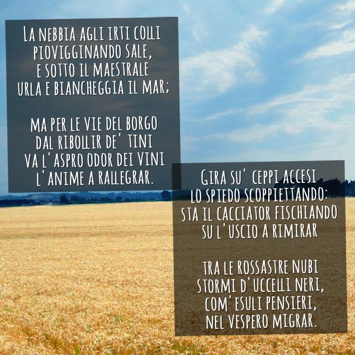 San Martino, testo della poesia