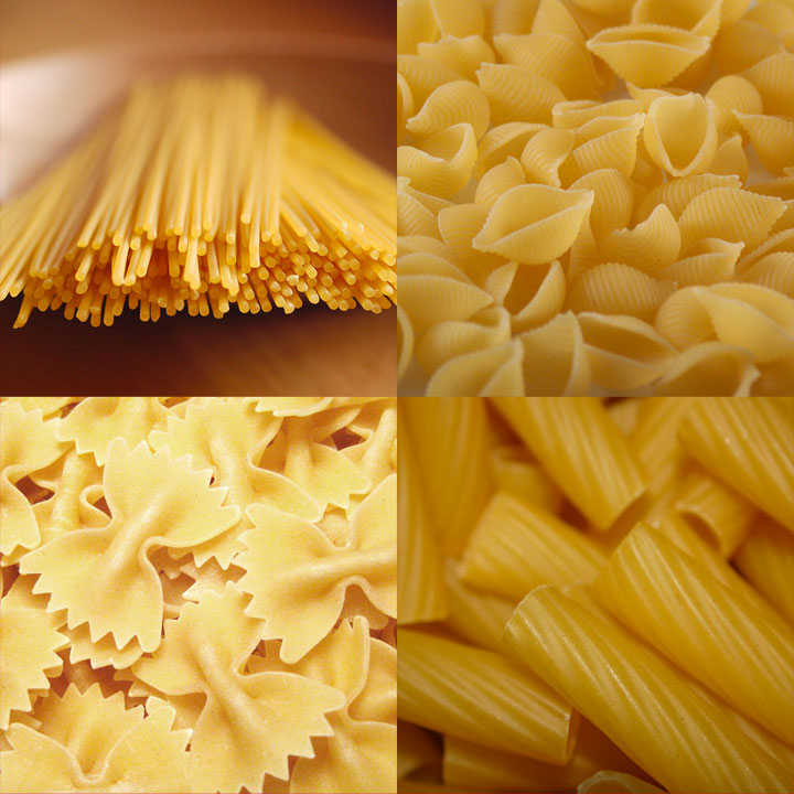 pasta bianca, pasta normale, pasta comune