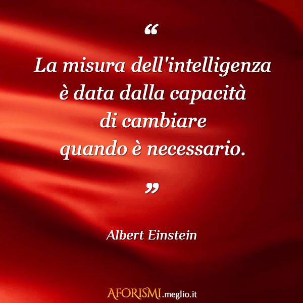 La misura dell'intelligenza è data dalla capacità di cambiare quando è necessario.