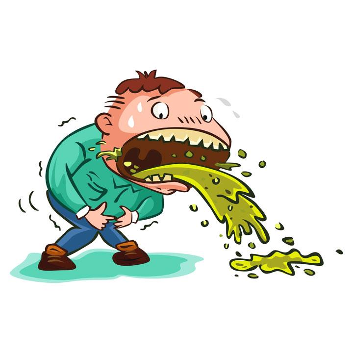 Frasi sul vomito e sulle cose che fanno vomitare