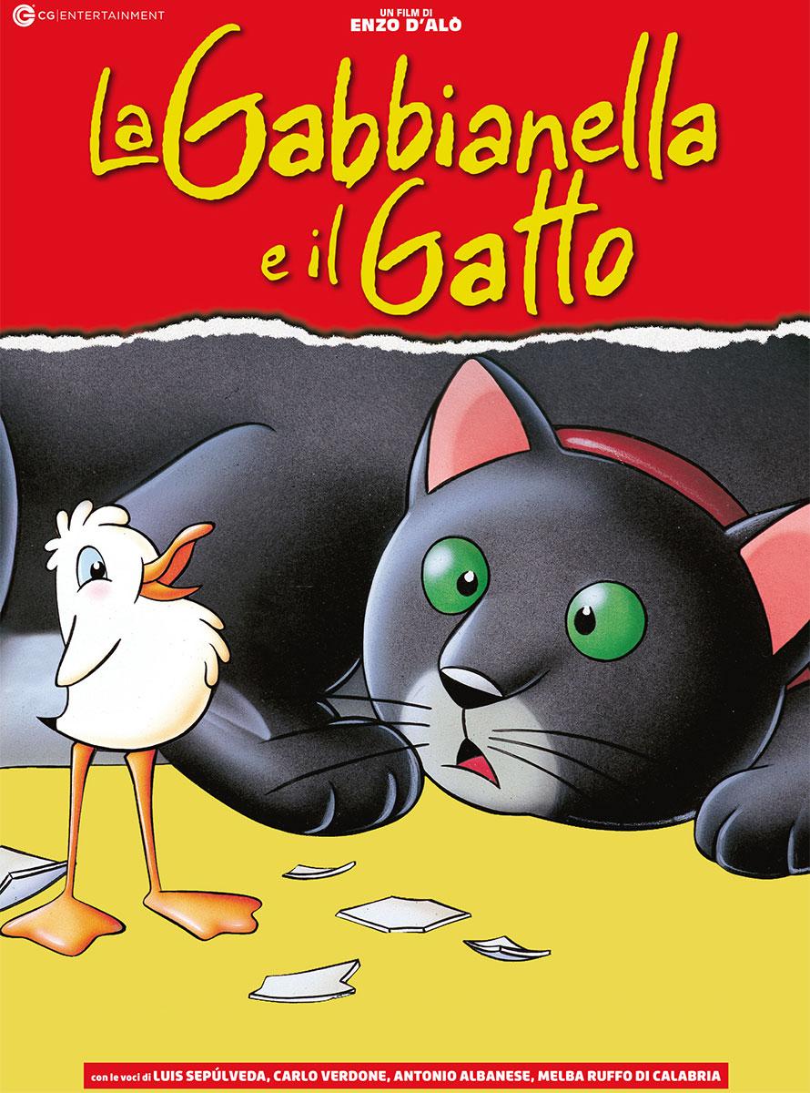 """Locandina del film (cartone animato) """"La Gabbianella e il Gatto"""""""