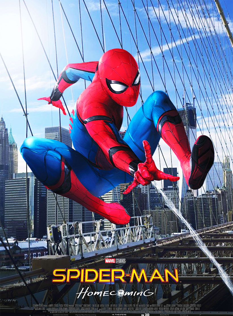 Spider-Man: Homecoming poster e locandina