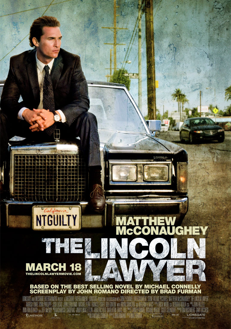 The Lincoln Lawyer poster e locandina