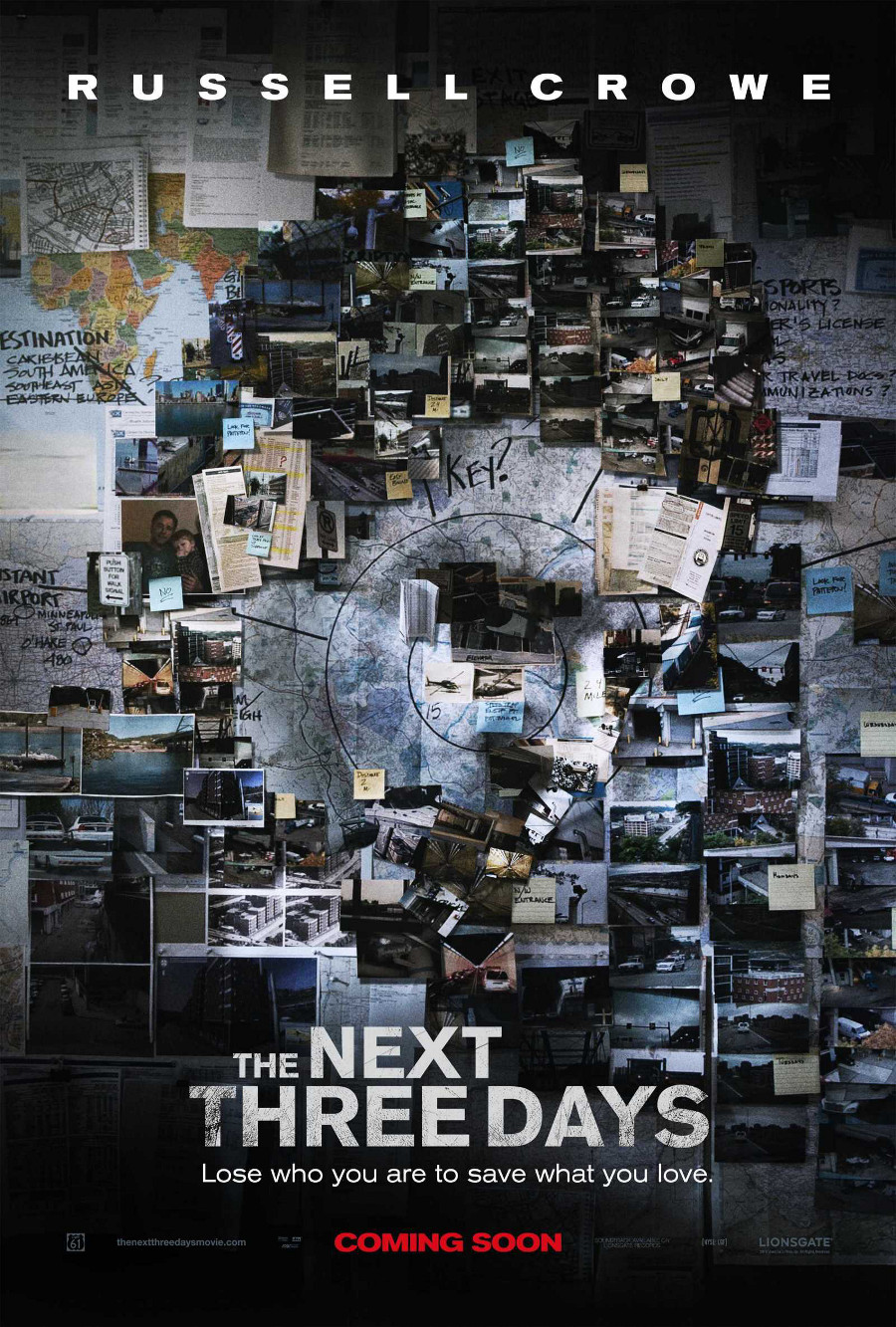 The Next Three Days poster e locandina