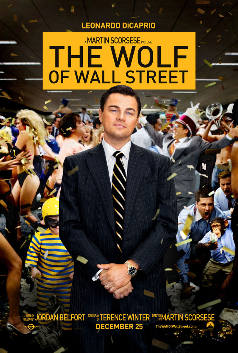 The Wolf of Wall Street poster e locandina
