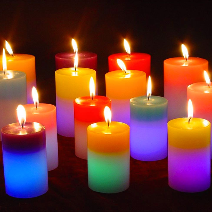 Frasi sulle candele for Candele colorate