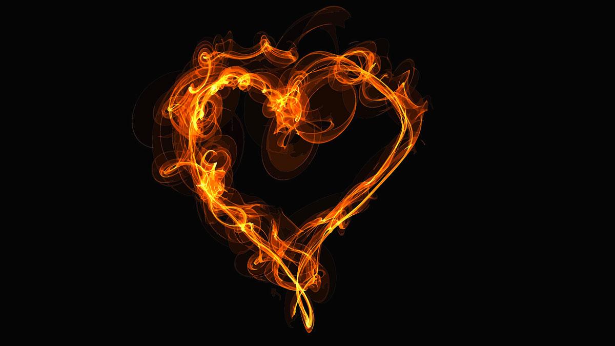 cuore in fiamme