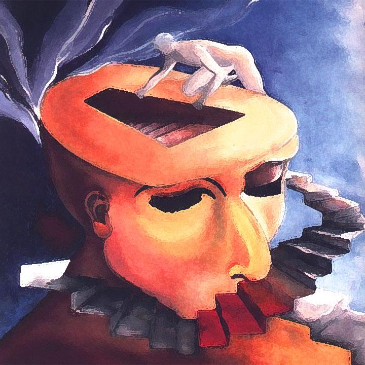 illustrazione rappresentativa dell'inconscio