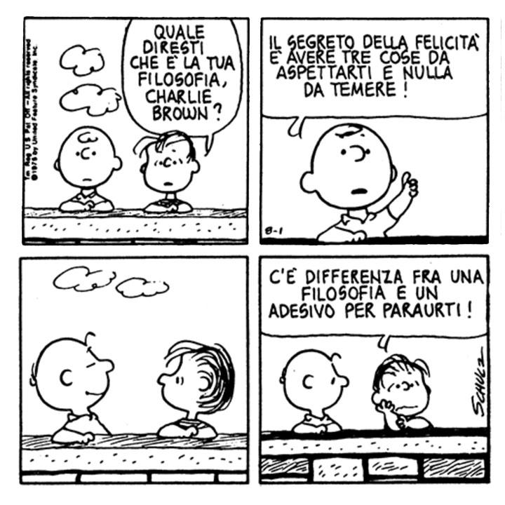 Charles M Schulz Linus Quale Diresti Che E La Tua Filosofia