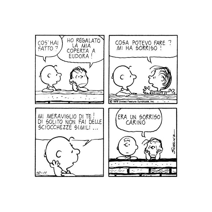 Charles M Schulz Charlie Brown Coshai Fatto Linus Ho Regalato