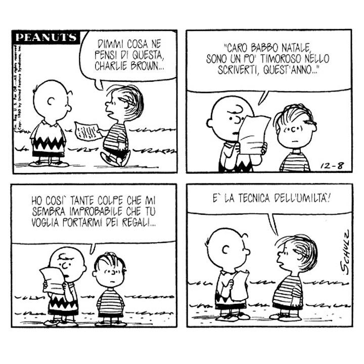 Aforismi Regali Di Natale.Charles M Schulz Linus Dimmi Cosa Ne Pensi Di Questa Charlie