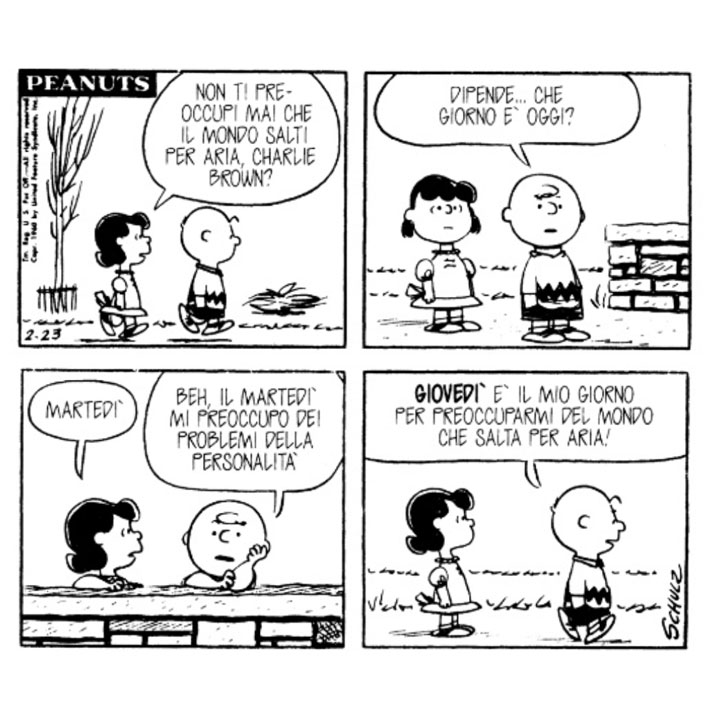 Charles M Schulz Lucy Non Ti Preoccupi Mai Che Il Mondo