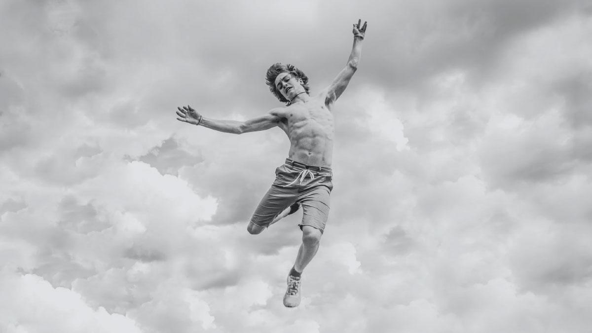 salto in aria