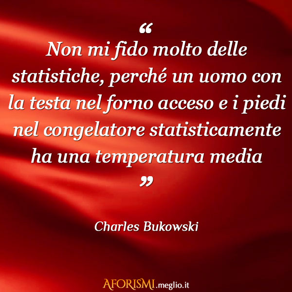 Charles Bukowski Non Mi Fido Molto Delle Statistiche Perche Un