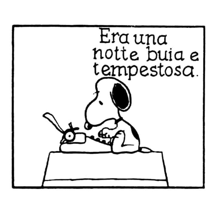 Charles M Schulz Era Una Notte Buia E Tempestosa Snoopy