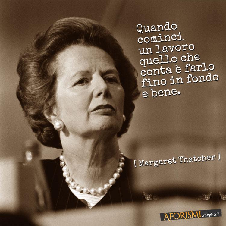 Frase sul lavoro di Margaret Thatcher