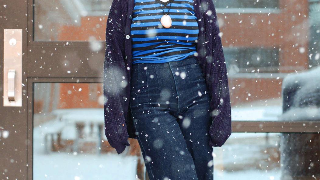 vestiti in inverno