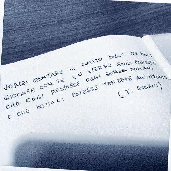 Francesco Guccini Vorrei Cantare Il Canto Delle Tue Mani